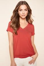 509 Broadway Jersey Knit V-Neck Shirt