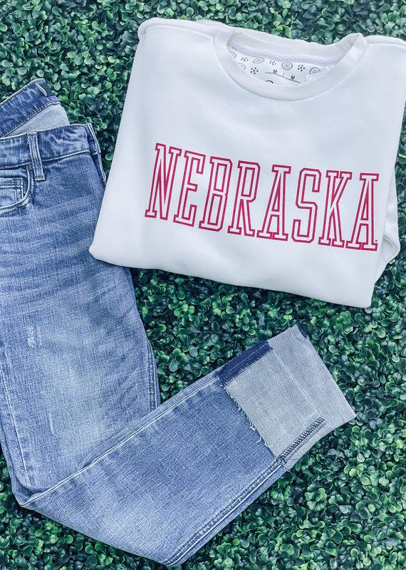 "509 Broadway Nebraska ""Super Block"" Fleece Pullover"