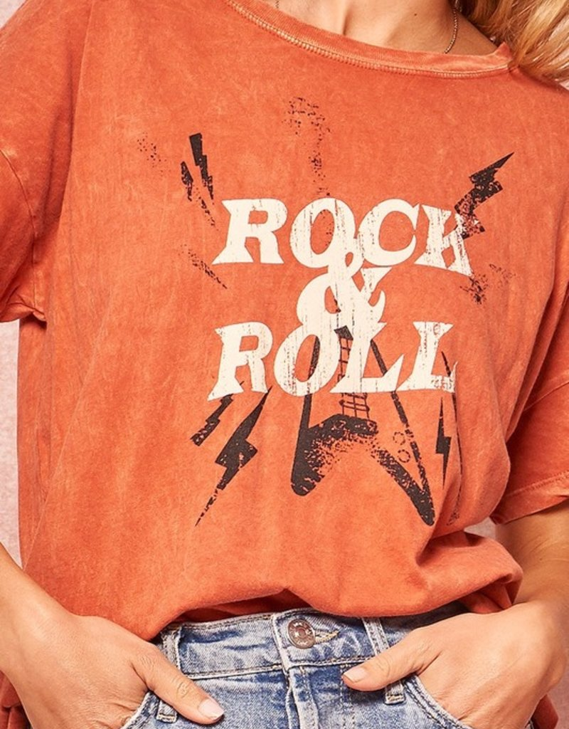 """509 Broadway Washed """"Rock & Roll"""" Tee"""