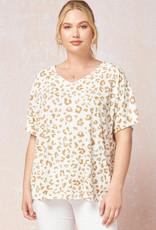 509 Broadway Plus Size Leopard Print Top