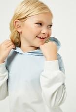 509 Broadway Girls Garment Dip Dyed Oversized Hoodie