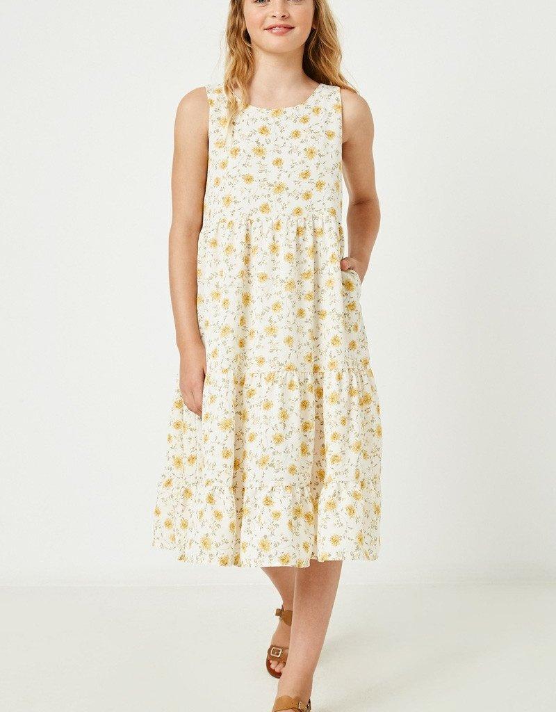 509 Broadway Girls Crossback Floral Maxi Dress