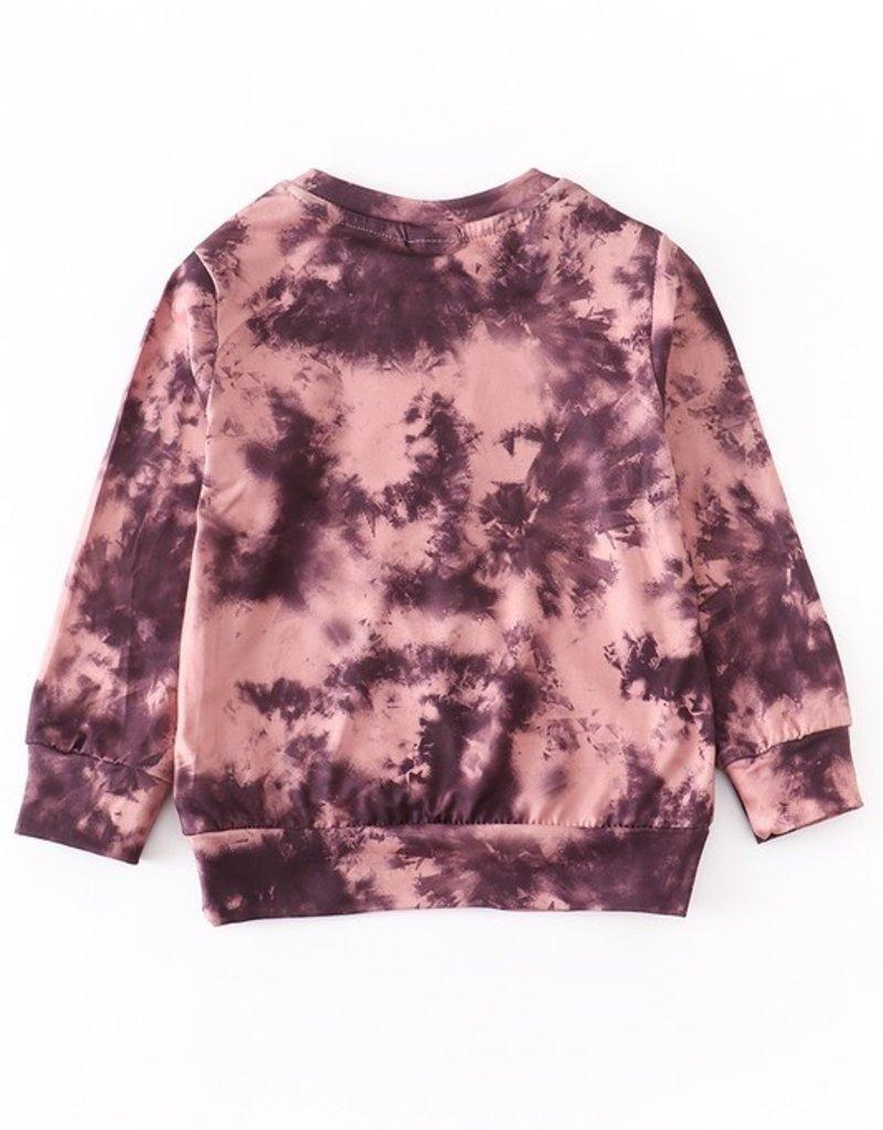 509 Broadway Girls Tie Dye Mini Pullover