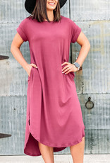 509 Broadway Ribbed Scoop Neck Midi Dress