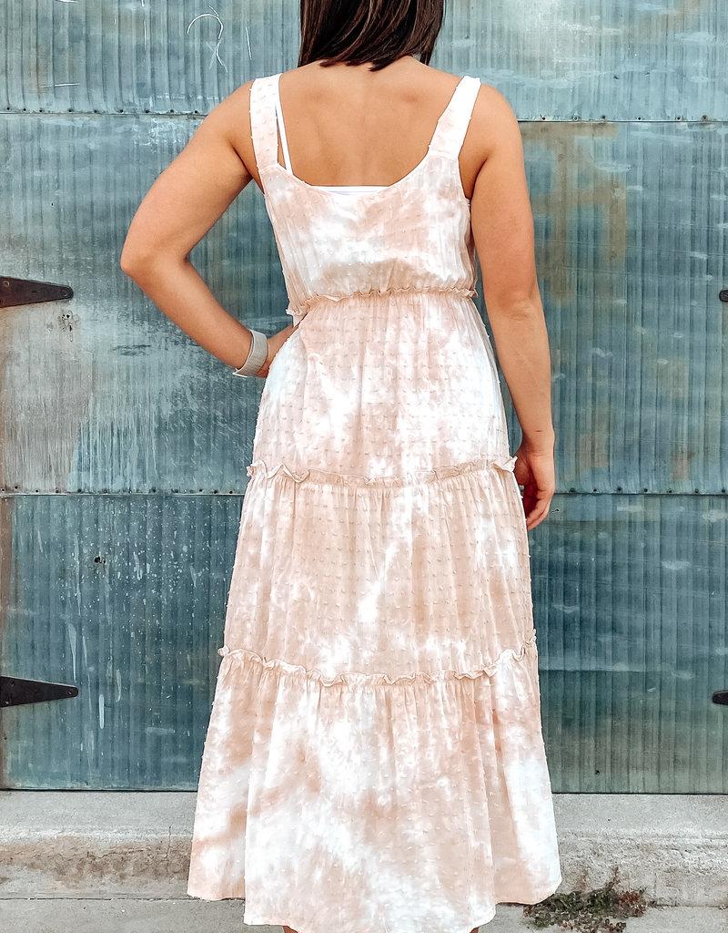 509 Broadway Clip Dot Tiered Dress