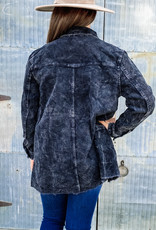 509 Broadway L/S Washed Corduroy Distressed Jacket