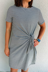 509 Broadway Waist Knot Tie Tee Dress