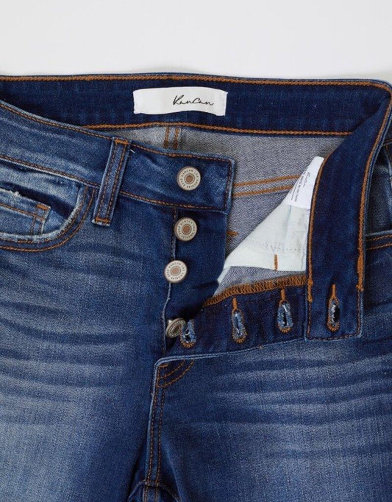 KanCan Sam High Rise Button Fly Skinny Jean