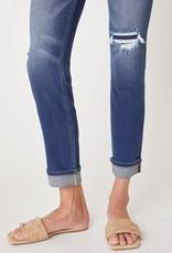 KanCan Cara Mid Rise Cuff Straight Leg Jean