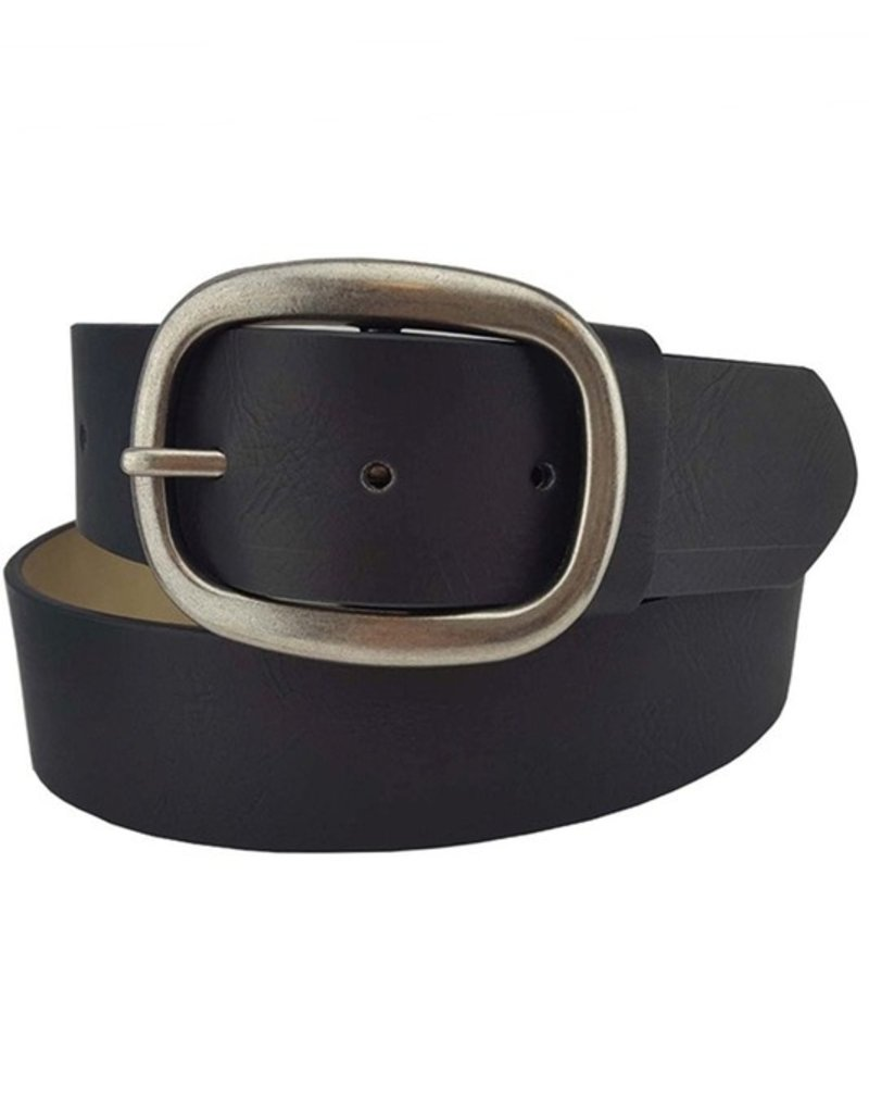 509 Broadway Women Belt With Oval Buckle