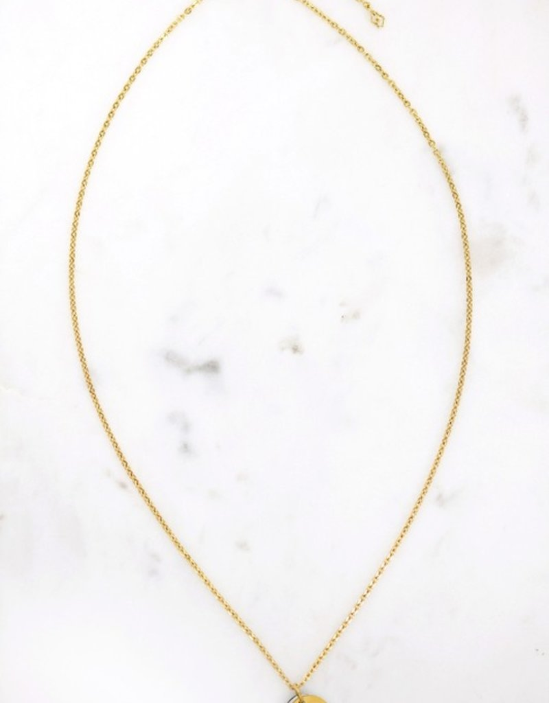 509 Broadway Cutout Initial Duo Disc Necklace