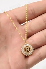 509 Broadway Crystal Initial Pendant Necklace
