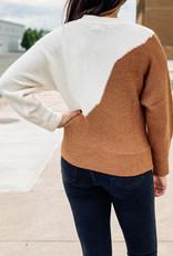 509 Broadway Asymmetrical Color Block Pullover