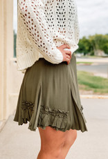 509 Broadway Ruffle Mini Skirt