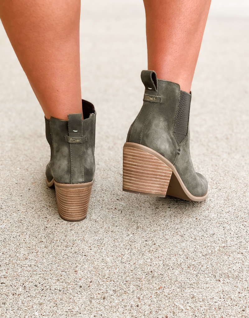 TOMS Everly Suede Bootie