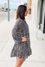 509 Broadway Button Down Leopard Dress