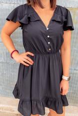 509 Broadway Flared Sleeve Mini Dress