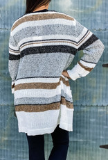 509 Broadway Color Block Knit Cardigan