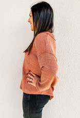 509 Broadway Ribbed Knit Pullover