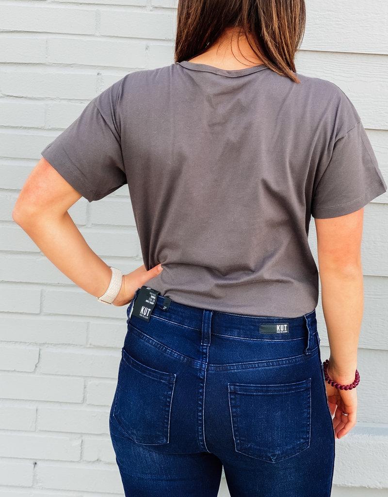 509 Broadway Henley Short Sleeve Bodysuit