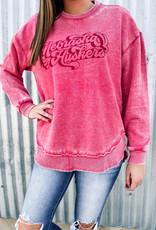 """509 Broadway Nebraska """"Rosetta"""" Vintage Fleece Pullover"""