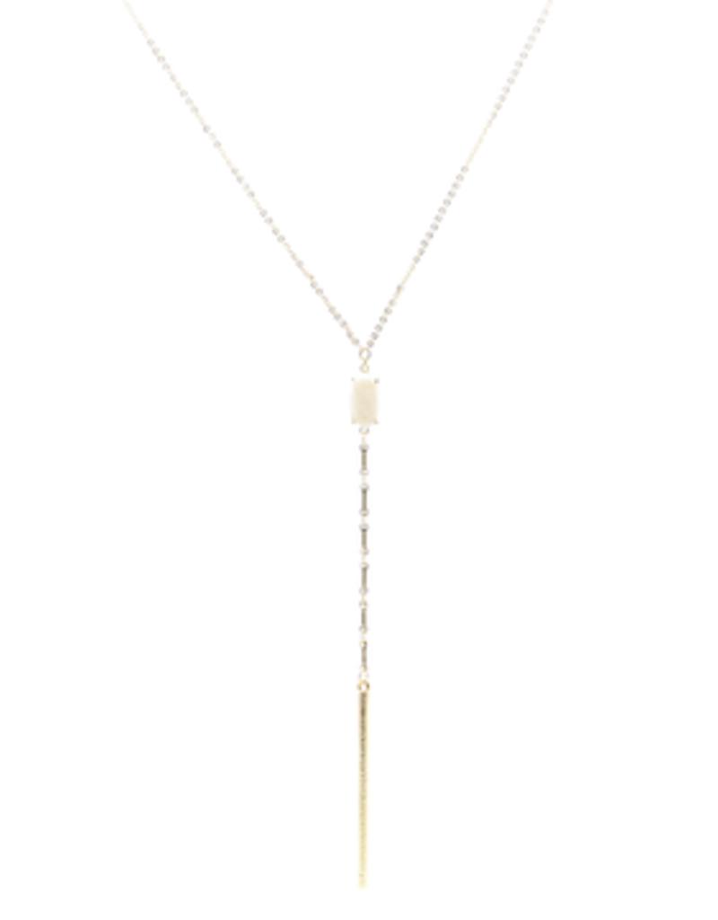 BB Lila  Druzy Drop  Long Necklace