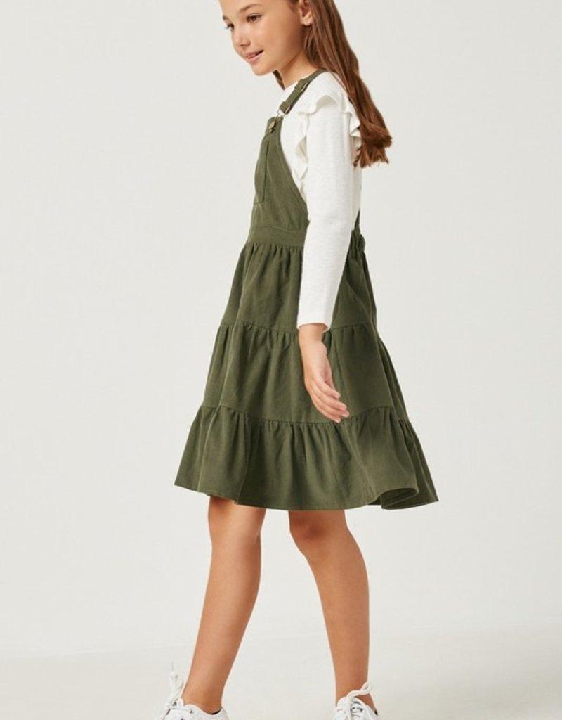 509 Broadway Girls Corduroy Overall Dress