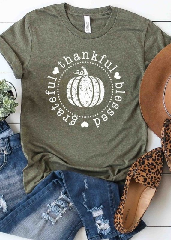 509 Broadway Grateful Thankful Blessed Tee