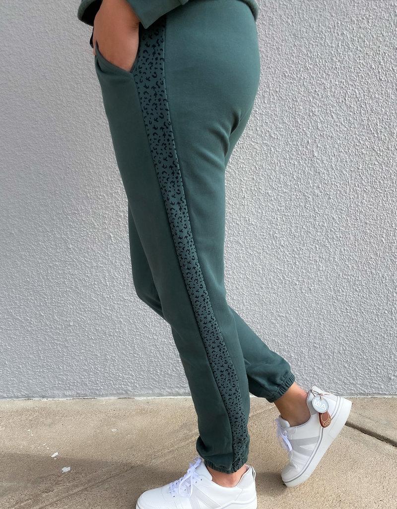 509 Broadway Side Leopard Print Jogger Pants