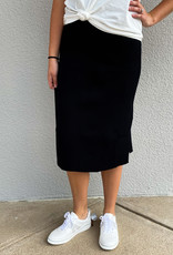 509 Broadway Ribbed Sweater Midi Skirt