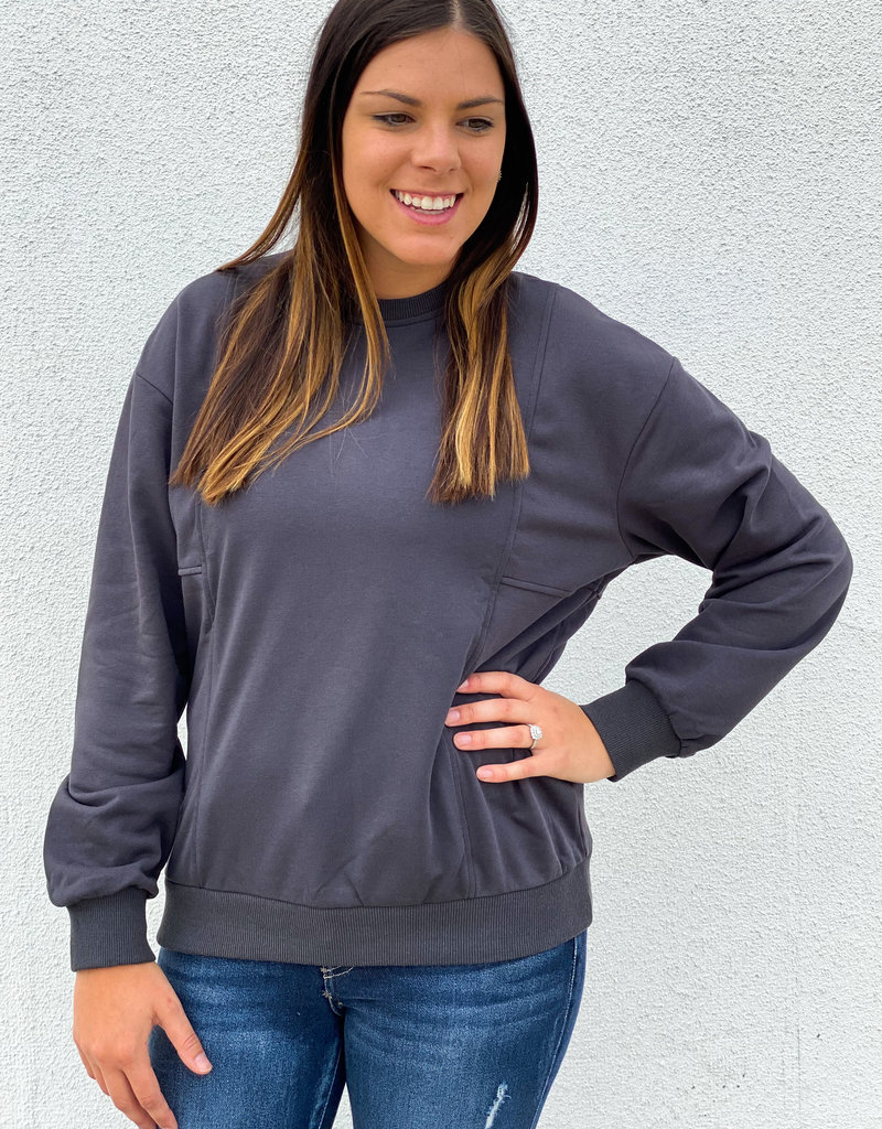 509 Broadway L/S French Terry Knit Top
