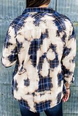 509 Broadway Bleached Check Shirt