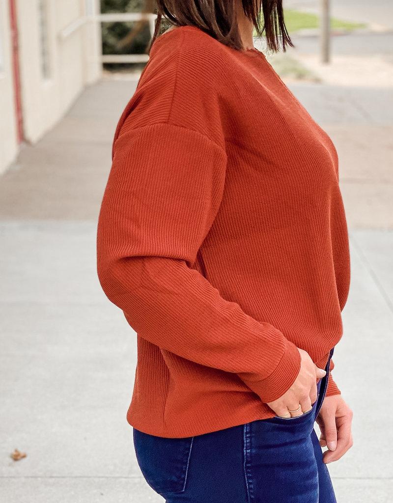 509 Broadway Stitching V-Neck Light Sweater