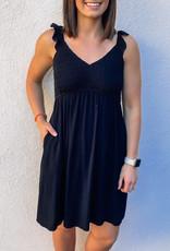 509 Broadway Ruffle Strap Ruched Mini Dress