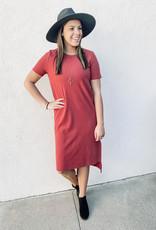 509 Broadway Ribbed Brushed Midi Dress