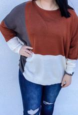509 Broadway Colorblock Lightweight Sweater