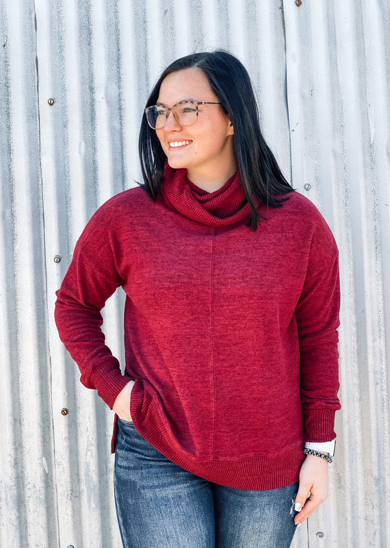 509 Broadway Cowl Neck Knit Top