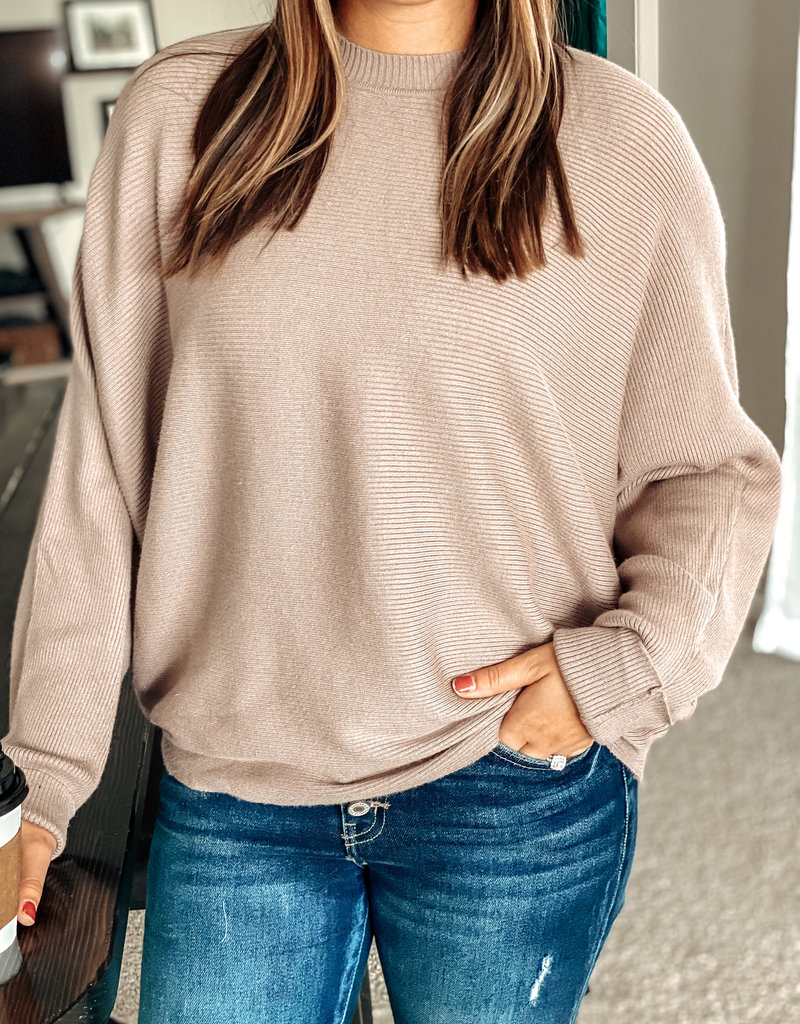 509 Broadway Long Dolman Sleeve Knit Sweater