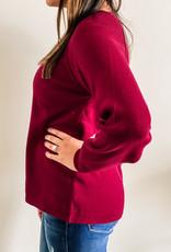 509 Broadway Crew Neck Raglan Sleeve Sweater