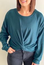 509 Broadway Front Twist Sweater Top