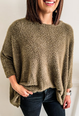 509 Broadway Eyelash Knit T-Body Sweater