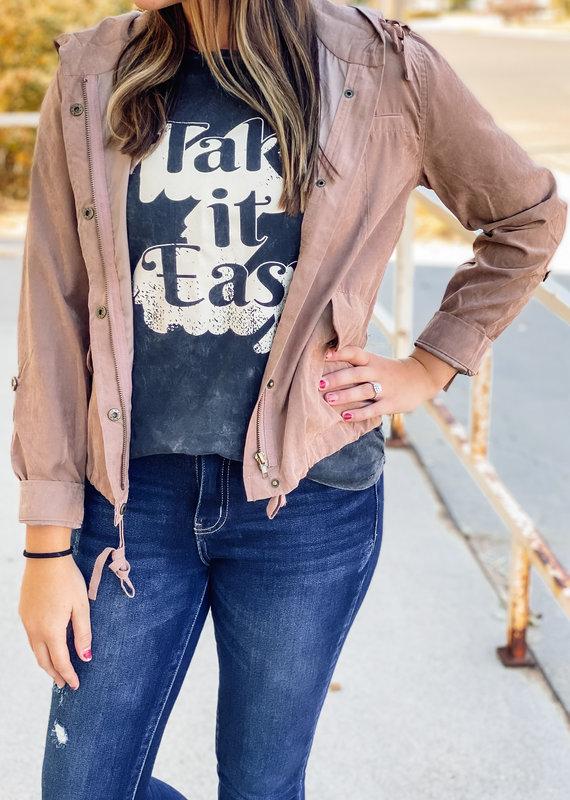 509 Broadway Lightweight Fall Woven Jacket