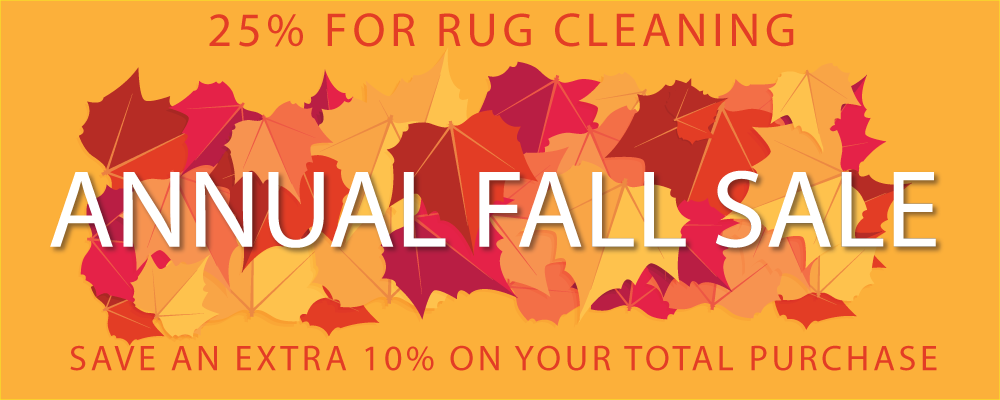 Fall Rug cleaning Sale