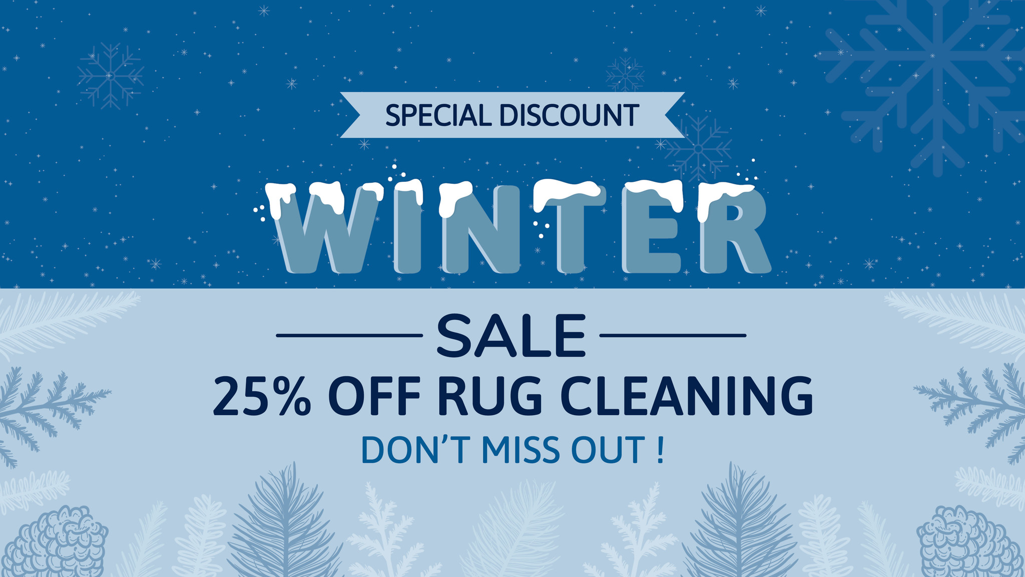 winter cleaning sale