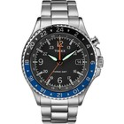 TIMEX WATCH ALLIED 3 GMT POWERED STAINLESS STEEL BAND