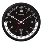"TRINTEC 10"" DUAL TIME WALL CLOCK #DSP4-B/W"