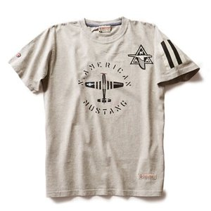 Red Canoe NORTH AMERICAN MUSTANG T SHIRT GREY M-SST-NAM-01-GY