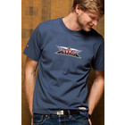 Red Canoe AVRO AIRCRAFT T-SHIRT  WASHED BLUE M-SST-AV-01-WB