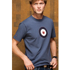 Red Canoe RCAF T-SHIRT WASHED BLUE  MED M-SST-RCAF-01-WB