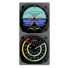 TRINTEC CLASSIC ARTIFICAL HORIZON Clock/AIRSPEED Thermometer